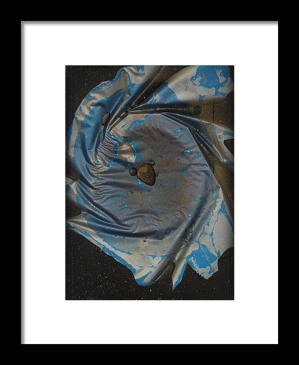 Space Framed Print featuring the painting Earth...the Final Spin by Rick Silas