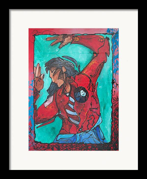 Native American Framed Print featuring the painting Earthwrath by Ernie Scott- Dust Rising Studios