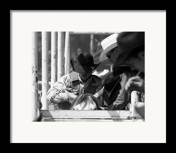Rodeo Framed Print featuring the photograph Easing In by Carol Miller