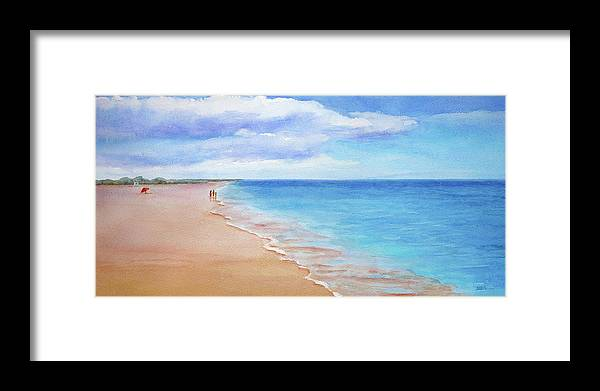 Beach Framed Print featuring the painting East Beach I by Janet Zeh