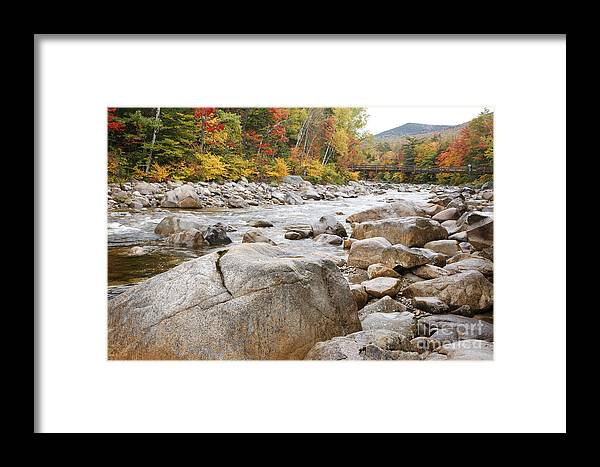 Nature Framed Print featuring the photograph East Branch Of The Pemigewasset River - White Mountains New Hampshire Usa by Erin Paul Donovan