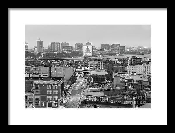 East Cambrdige Boston Skyline Aerial Citgo Sign Photo by Paul Velgos