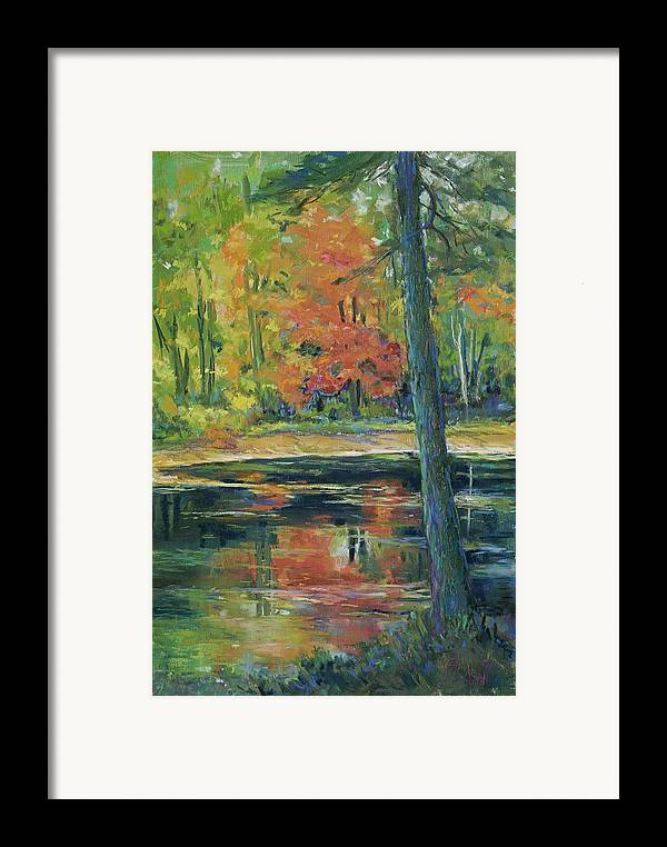 Fall Framed Print featuring the painting East Coast Autumn by Billie Colson