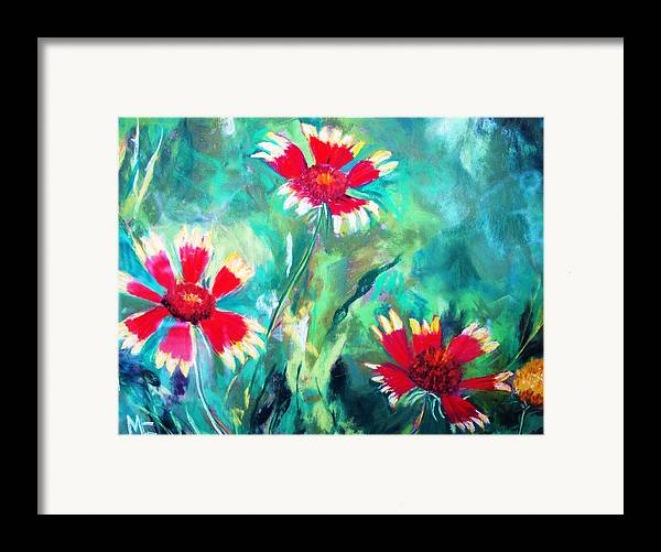 Flowers Framed Print featuring the painting East Texas Wild Flowers by Melinda Etzold