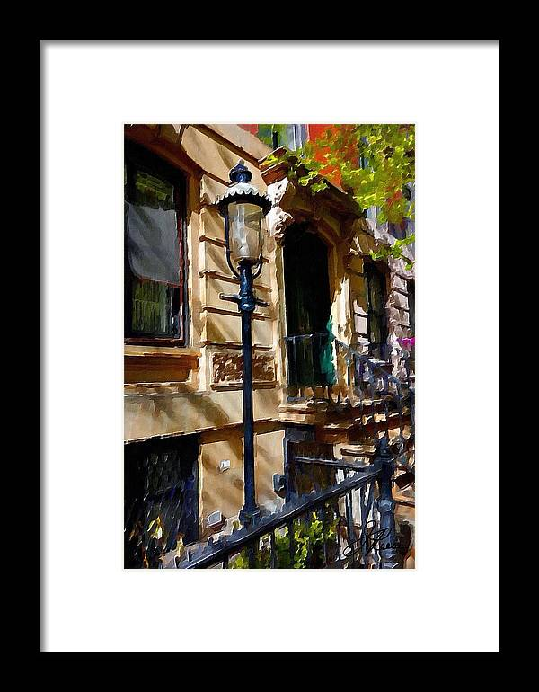 New York City Pre War Buildings Framed Print featuring the photograph East Village New York Townhouse by Joan Reese