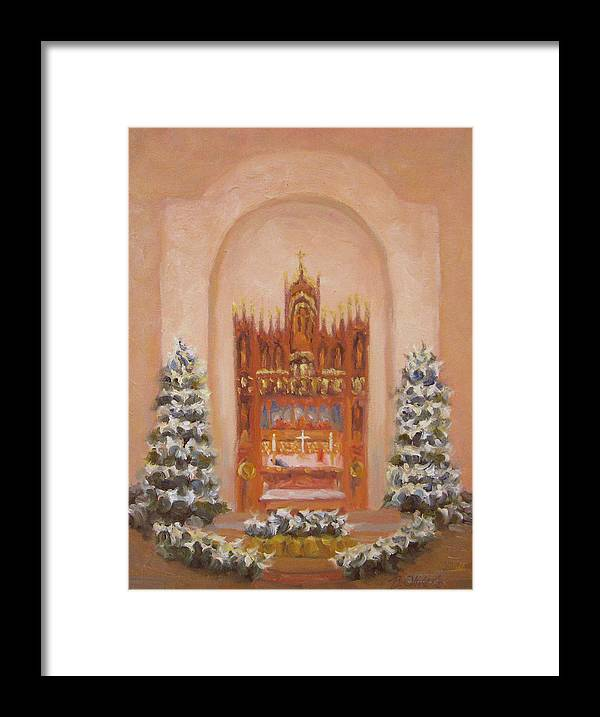Church Framed Print featuring the painting Easter At St. Martins by Bunny Oliver