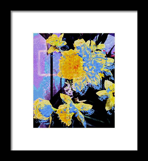 Flowers Framed Print featuring the photograph Easter Daffodils by Mindy Newman