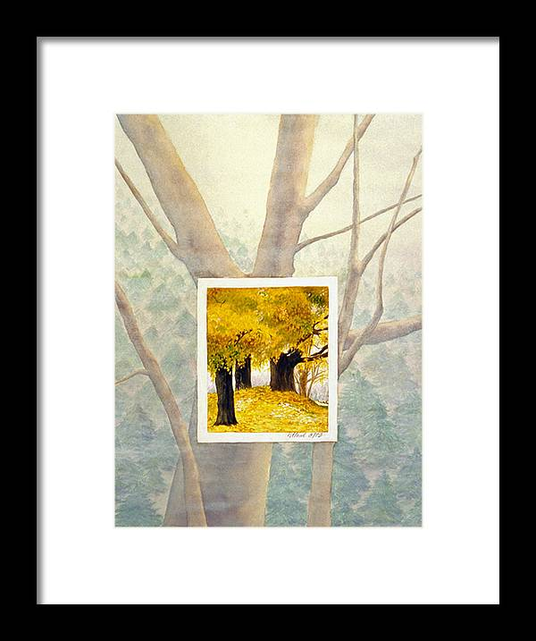 Autumn Framed Print featuring the painting Eastern Autumn by Nancy Ethiel