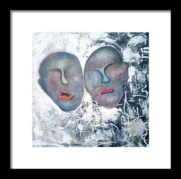 Framed Print featuring the painting Eastern Graffiti by Kime Einhorn