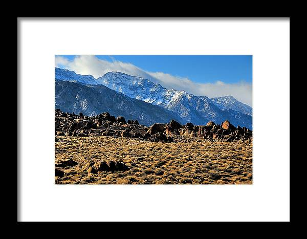 Landscape Framed Print featuring the photograph Eastern Sierras 2 by Duane Middlebusher
