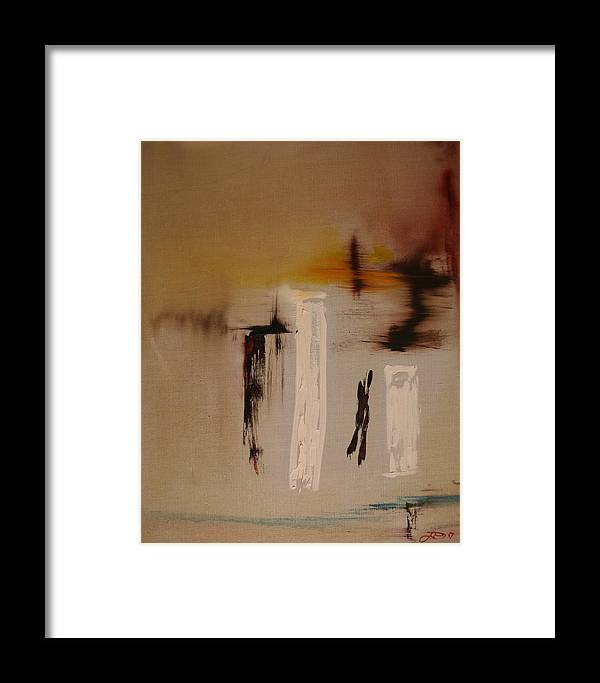 Abstract Framed Print featuring the painting Easy by Jack Diamond