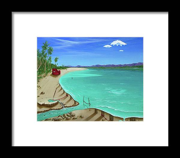 Surreal Painting Framed Print featuring the painting Easy Living by Sharon Ebert
