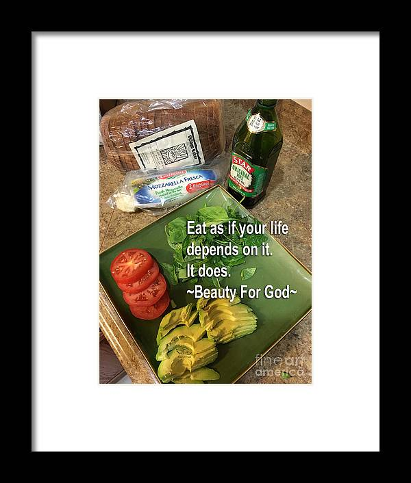 Eat Framed Print featuring the photograph Eat by Beauty For God