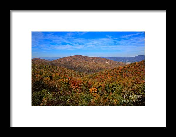 Eaton Hollow Overlook Framed Print featuring the photograph Eaton Hollow Overlook On Skyline Drive In Shenandoah National Park by Louise Heusinkveld