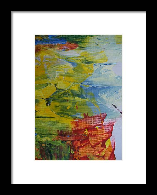 Abstract Framed Print featuring the painting Ebb Tide by Bruce Combs - REACH BEYOND