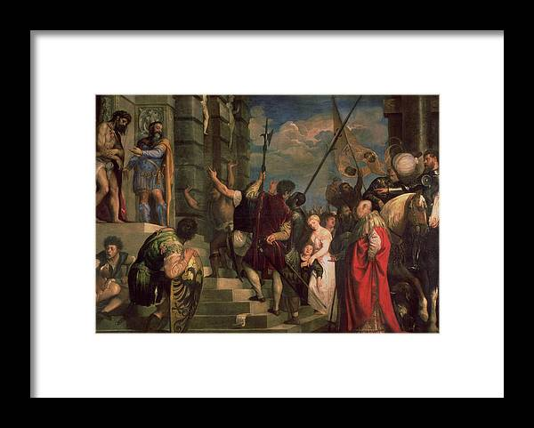 Titian Framed Print featuring the painting Ecce Homo, 1543 by Titian