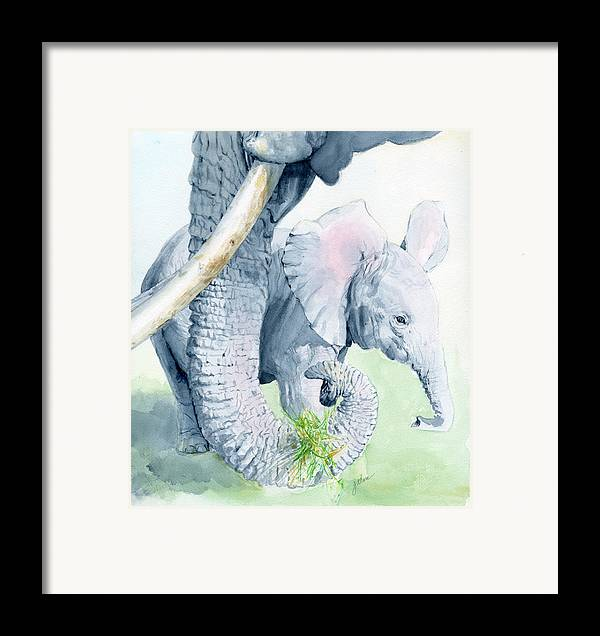 Elephant Framed Print featuring the painting Echo And Espirit by Galen Hazelhofer