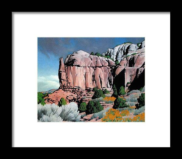 New Mexico Framed Print featuring the painting Echoes by Kevin Lawrence Leveque