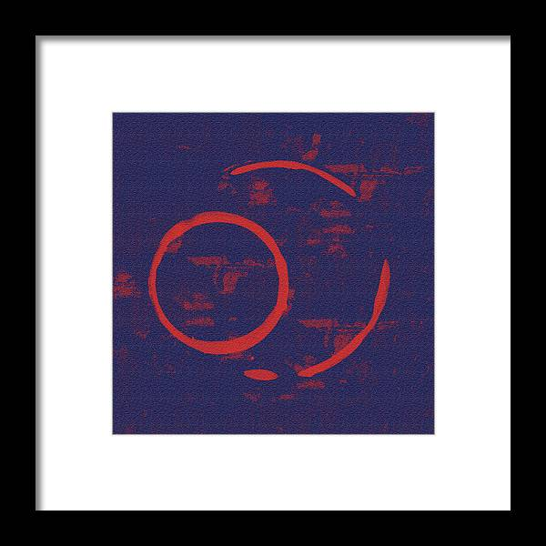 Red Framed Print featuring the painting Eclipse by Julie Niemela