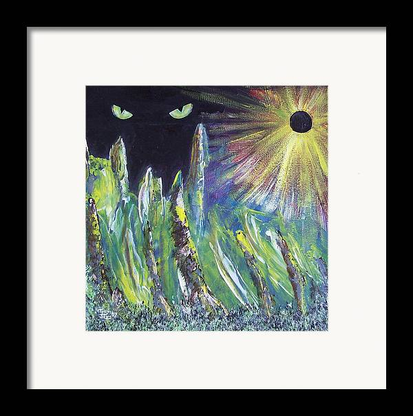 Surreal Framed Print featuring the painting Eclipse by Tony Rodriguez