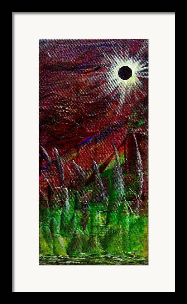Abstract Framed Print featuring the painting Eclpise II by Tony Rodriguez