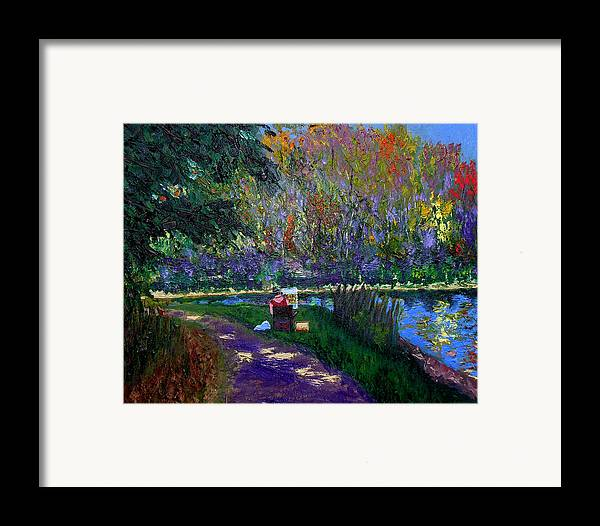 Original Oil On Canvas Framed Print featuring the painting Ecp 10-3 by Stan Hamilton