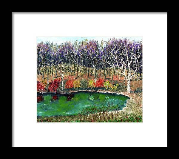 Plein Air Framed Print featuring the painting Ecp 11 14 by Stan Hamilton