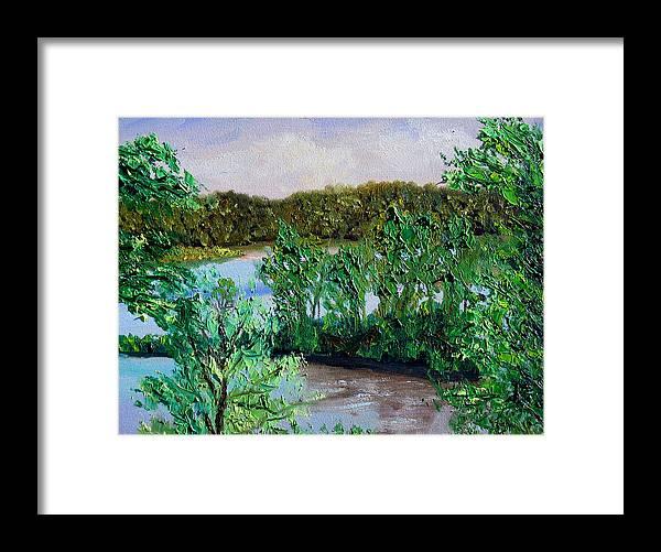 Original Oil On Canvas Framed Print featuring the painting Ecp 5-26 by Stan Hamilton