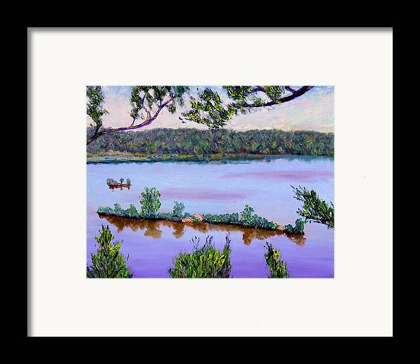 Original Oil On Canvas Framed Print featuring the painting Ecp 6-1 by Stan Hamilton