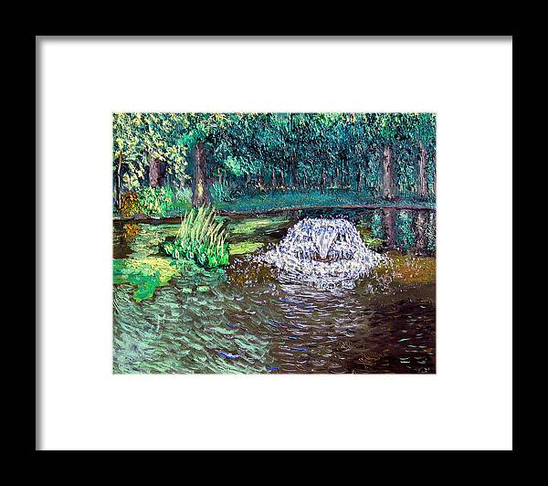 Original Oil On Canvas Framed Print featuring the painting Ecp 7-12 by Stan Hamilton
