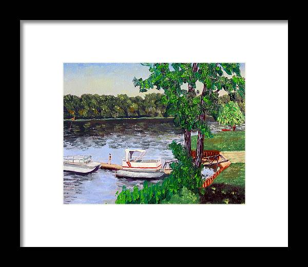 Original Oil On Canvas Framed Print featuring the painting Ecsp 8-24 by Stan Hamilton
