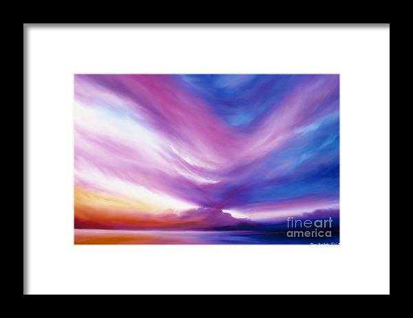 Clouds Framed Print featuring the painting Ecstacy by James Christopher Hill