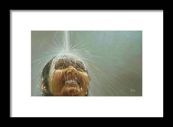 Rajasekharan Paintings Framed Print featuring the painting Ecstasy by Rajasekharan Parameswaran