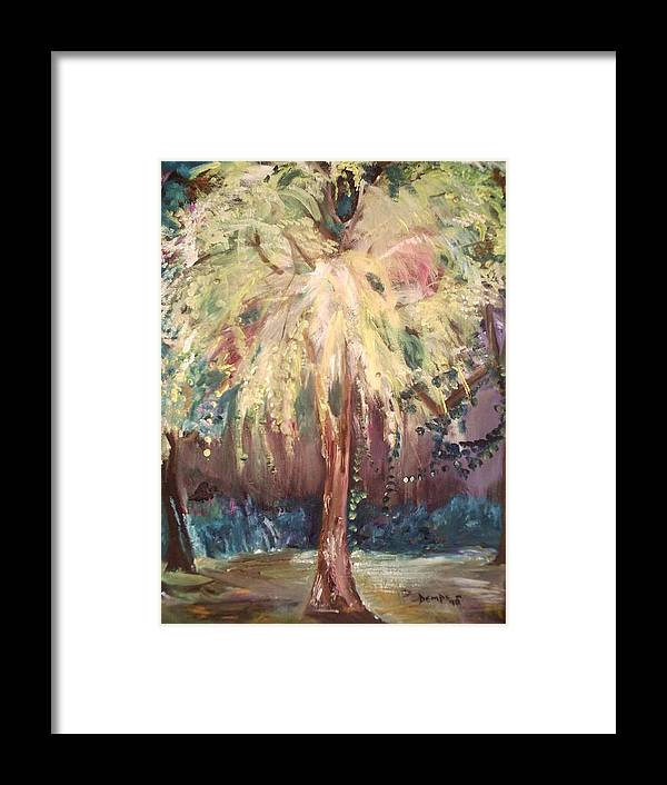 Landscape Framed Print featuring the painting Eden In The Evening by Impressionist FineArtist Tucker Demps Collection
