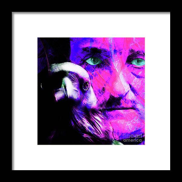 Wingsdomain Framed Print featuring the photograph Edgar Allan Poe The Eyes Of The Ravens 20160430 V3 M88 Square by Wingsdomain Art and Photography