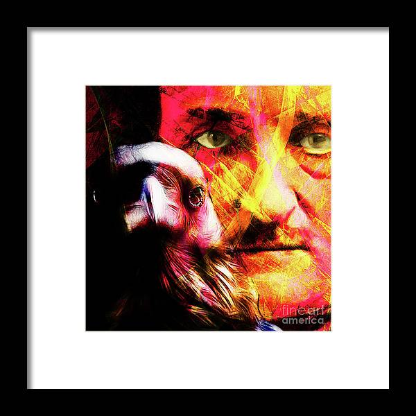 Wingsdomain Framed Print featuring the photograph Edgar Allan Poe The Eyes Of The Ravens 20160430 V3 Square by Wingsdomain Art and Photography
