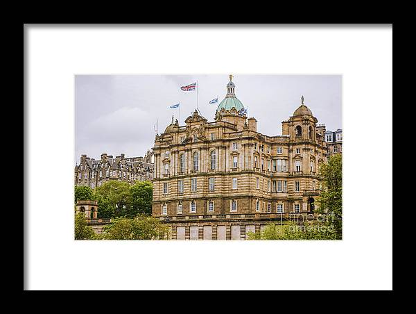 Scotland Series By Lexa Harpell Framed Print featuring the photograph Edinburgh Bank Of Scotland Building by Lexa Harpell