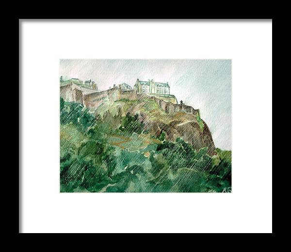 Castle Framed Print featuring the painting Edinburgh Castle by Andrew Gillette