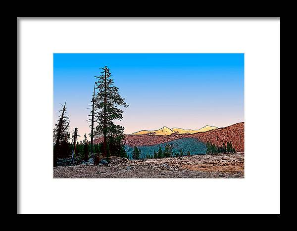California Landscape Art Framed Print featuring the painting Edison Sunset by Larry Darnell