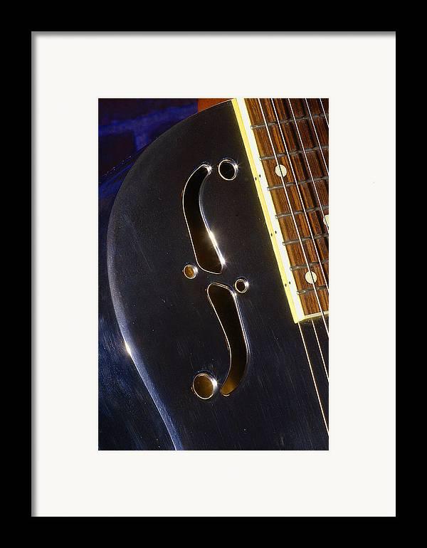 Music Framed Print featuring the photograph Eds Guitars Steel1 by Art Ferrier