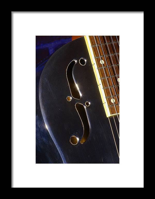 Music Framed Print featuring the photograph Eds Guitars Steel1 by Art Ferrier