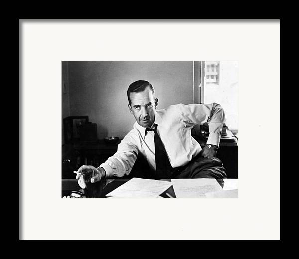 1950s Portraits Framed Print featuring the photograph Edward R. Murrow, 1954 by Everett