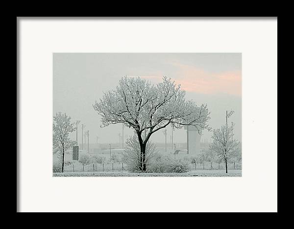 White Framed Print featuring the photograph Eerie Days by Christine Till