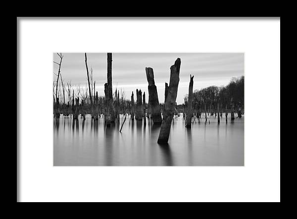 Lake Framed Print featuring the photograph Eerie Lake by Jennifer Ancker