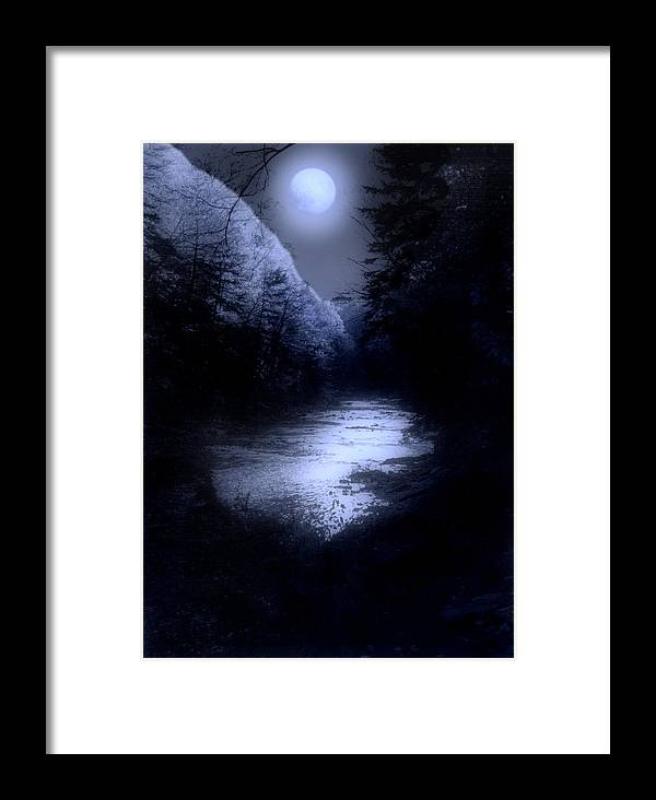 Moon Framed Print featuring the photograph Eerie Tranquility by Kenneth Krolikowski