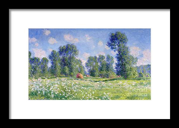 Effect Of Spring Framed Print featuring the painting Effect Of Spring At Giverny by Claude Monet
