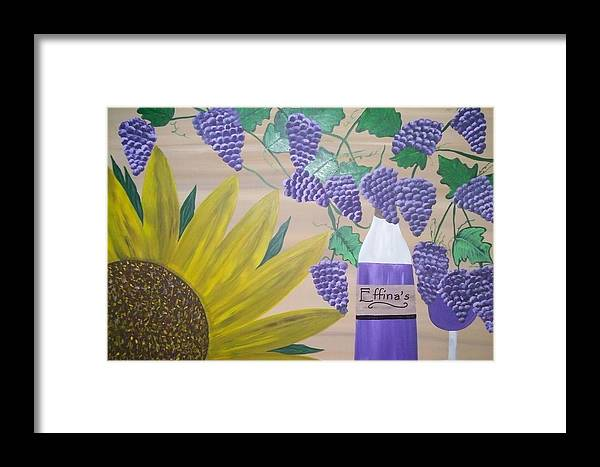 Sunflowers Framed Print featuring the painting Effinas In Tuscany by Paula Ferguson