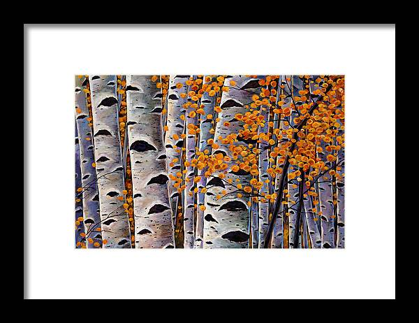 Aspen Framed Print featuring the painting Effulgent October by Johnathan Harris