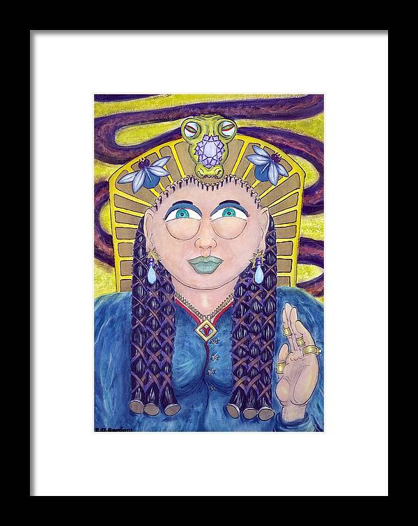 Princess Framed Print featuring the painting EGE by Eddie Sargent