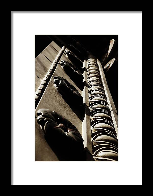 Architecture Framed Print featuring the photograph Egg And Dart Detail by Amy Neal